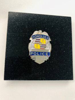 HONOLULU POLICE SILVER PAPERWEIGHT