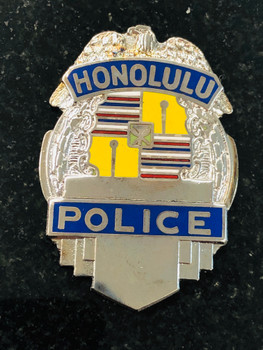 HONOLULU POLICE SILVER PAPERWEIGHT