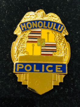 HONOLULU POLICE GOLD PAPERWEIGHT