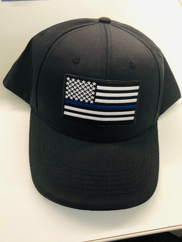 Thin Blue Line Flag Hat blue with blue brim