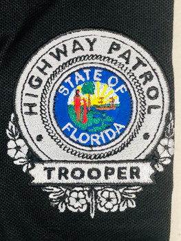 FLORIDA HIGHWAY PATROL POLO SILVER BADGE