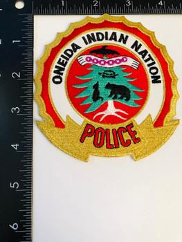 ONEIDA INDIAN NEW YORK POLICE PATCH