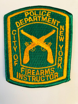 CITY OF NEW YORK POLICE DEPARTMENT FIREARMS INSTRUCTOR PATCH