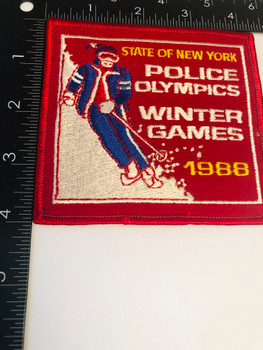 STATE OF NEW YORK POLICE WINTER OLYMPICS 1988 PATCH