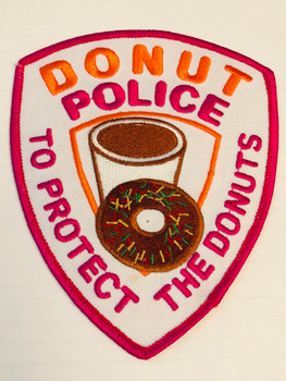 DONUT POLICE TO PROTECT THE DONUTS PATCH