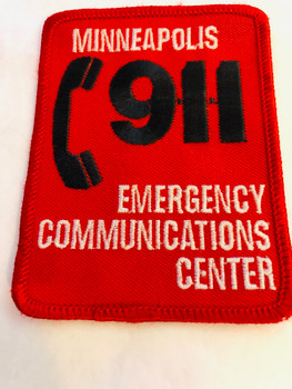 MINNEAPOLIS 911 EMERGENCY COMMUNICATIONS CENTER PATCH