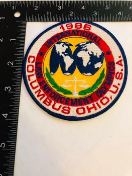 COLUMBUS OHIO INTERNATIONAL LAW ENFORCEMENT OLYMPICS PATCH