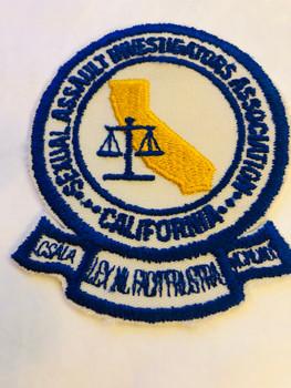 CALIFORNIA SEXUAL ASSAULT INVESTIGATORS ASSOCIATION PATCH
