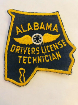 ALABAMA DRIVERS LICENSE TECHICIAN PATCH LAST ONE RARE