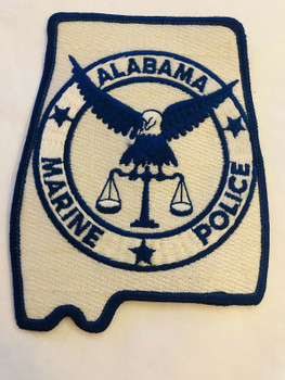 ALABAMA MARINE POLICE PATCH LAST ONE RARE