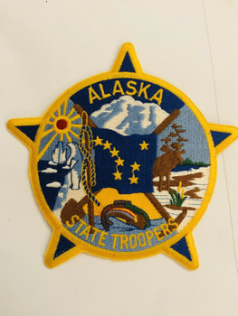 ALASKA STATE TROOPERS HUGE PATCH VERY RARE LAST ONE