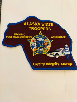 ALASKA STATE TROOPERS TROOP C POST HEADQUARTERS RARE PATCH