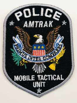 AMTRAK POLICE MOBILE TACTICAL UNIT PATCH RARE LAST ONE