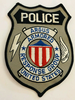 ARGUS ARMORED RESPONSE GROUP PATCH RARE LAST ONE