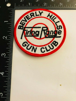 BEVERLY HILLS GUN CLUB PATCH LOS ANGELES AREA NOW CLOSED VERY RARE LAST ONE