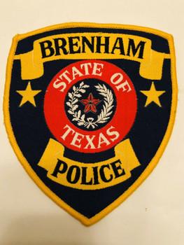 BRENHAM POLICE TEXAS WOVEN PATCH