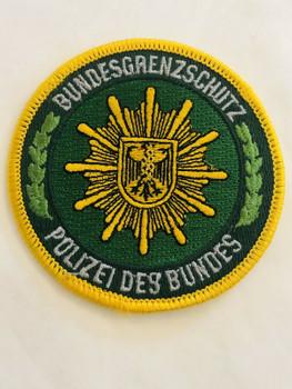 BUNDESGRENZSCHUTZ GERMAN POLICE POLIZEI DES BUNDES PATCH RARE