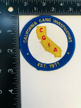 CALIFORNIA GANG INVESTIGATORS EST 1977 PATCH RARE LAST ONE