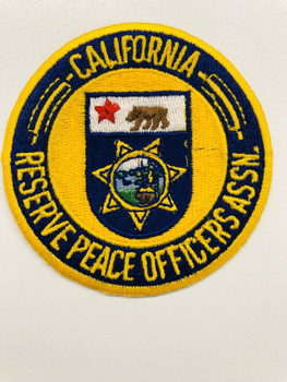 CALIFORNIA RESERVE PEACE OFFICERS ASSOC. PATCH RARE LAST ONE