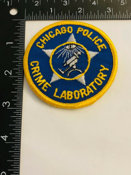 CHICAGO POLICE CRIME LABORATORY PATCH VERY RARE LAST ONE