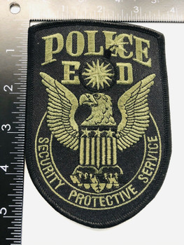 CIA SECURITY PROTECTIVE SERVICE PATCH RARE LAST ONE