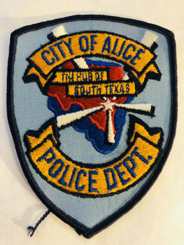 ALICE POLICE TEXAS PATCH
