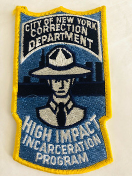 CITY OF NEW YORK CORRECTION DEPT. HIGH IMPACT INCARCERATION PROGRAM UNIT PATCH