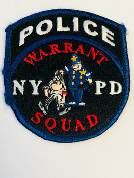 CITY OF NEW YORK POLICE WARRANT SQUAD PATCH