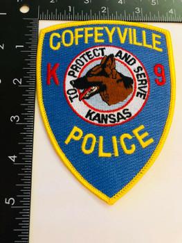 COFFEYVILLE POLICE KANSAS K-9 RARE PATCH