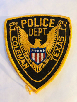 COLEMAN TEXAS POLICE PATCH