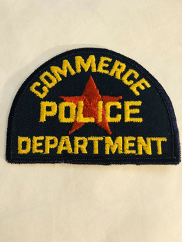 COMMERCE POLICE TEXAS PATCH