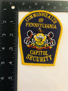 COMMONWEALTH OF COMMONWEALTH OF PENNSYLVANIA CAPITOL SECURITY PATCH LAST ONE RARE LAST ONE RARE