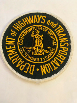 COMMONWEALTH OF VIRGINIA DEPT OF HIGHWAYS AND TRANSPORTATION PATCH LAST ONE RARE