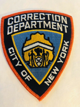 CORRECTION DEPARTMENT CITY OF NEW YORK ORANGE PATCH