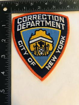CORRECTION DEPARTMENT CITY OF NEW YORK ORANGE PATCH