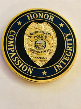 MCPHERSON POLICE  KANSAS  COIN