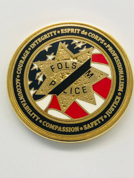 FOLSOM POLICE CALIFORNIA MEMORIAL COIN