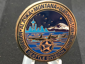 US POSTAL SERVICE SEATTLE DIV. CHALLENGE COIN 2