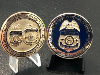 US CUSTOMS 25TH ANNIV. COIN GOLD