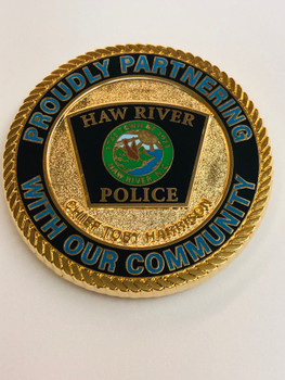 HAW RIVER POLICE NORTH CAROLINA COIN