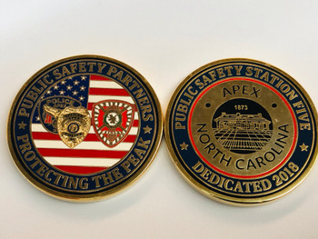 APEX POLICE NORTH CAROLINA COIN