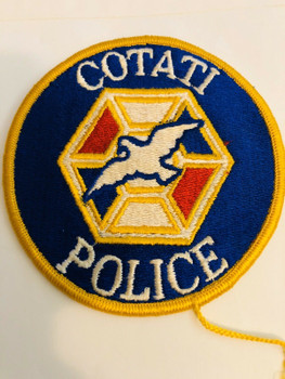 COTATI POLICE CALIFORNIA PATCH