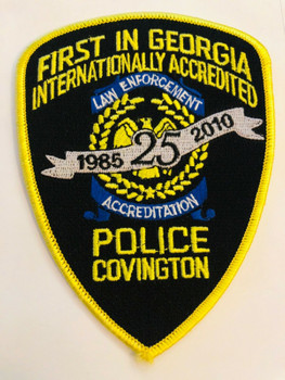 COVINGTON POLICE 25TH ANNIV. ACCREDITED RARE PATCH
