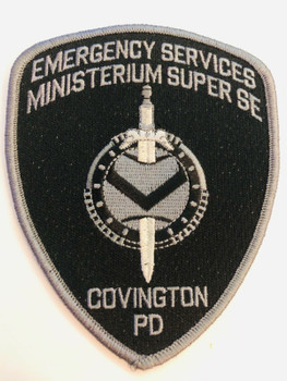 COVINGTON POLICE EMERGENCY SERVICES MINISTERUM SUPER SE SUBDUED RARE PATCH