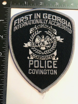 COVINGTON POLICE ACCREDITED SINCE 1985 SUBDUED RARE PATCH2
