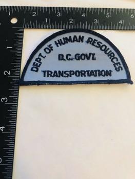 D. C. GOVT. DEPT. OF HUMAN RESOURCES TRANSPORTATION PATCH
