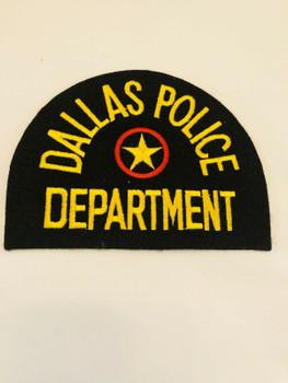 DALLAS POLICE LASER CUT PATCH