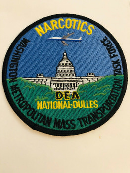 DEA NATIONAL DULLES MASS NARCOTICS TRANSPORTATION TASK FORCE RARE PATCH