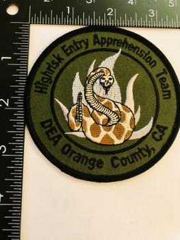DEA ORANGE CTY CALIFORNIA HIGH RISK ENTRY APPREHENSION TEAM RARE PATCH