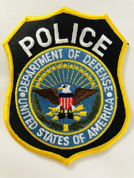 DEPARTMENT OF DEFENSE POLICE PATCH LAST ONE